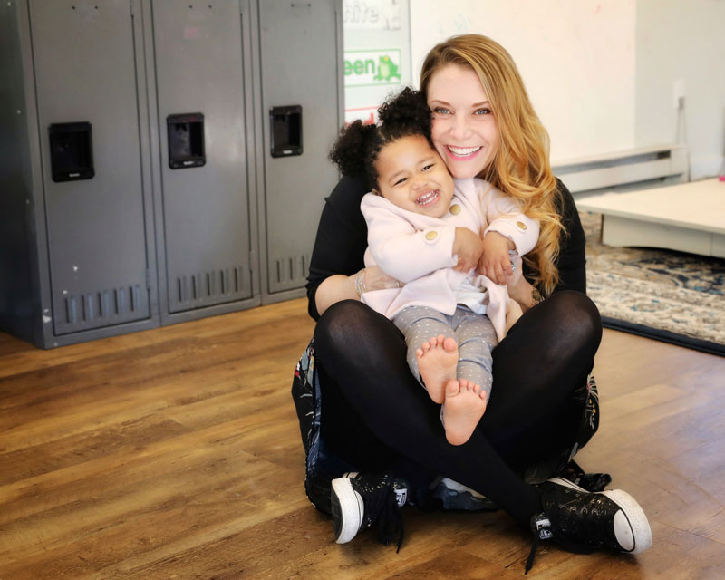 Founder with her daughter