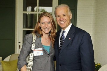 Community Classroom founder with then Vice President, Joe Biden