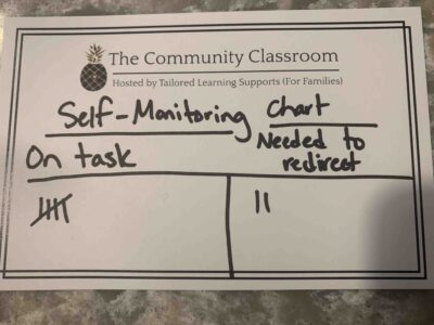 Self Monitoring Attention Chart